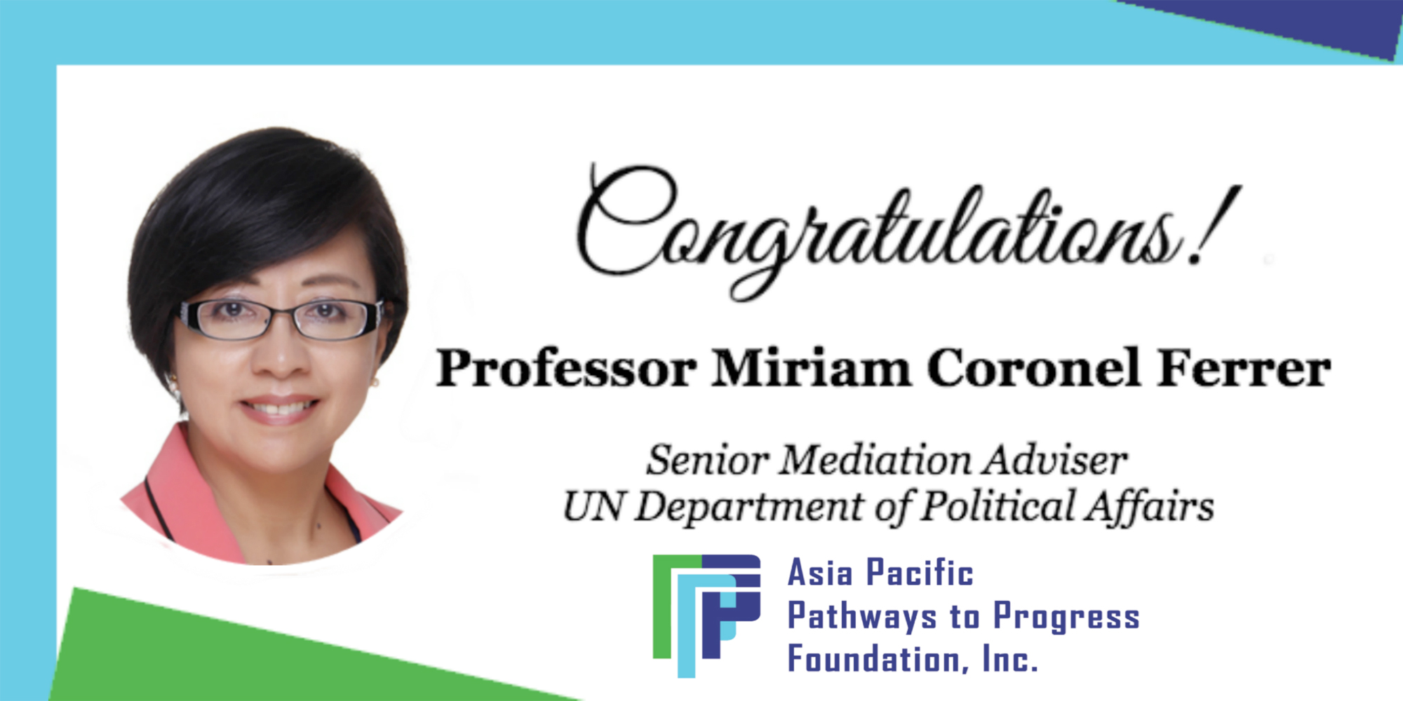 APPFI Trustee appointed as Senior Mediation Adviser at UN